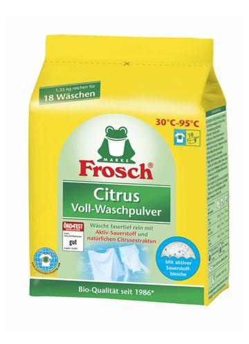 Frosch ЦИТРУС концентрируемый стиральный порошок с отбеливателем, 1,35 кг