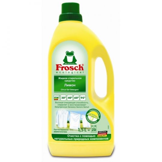 Frosch Жидкое стиральное средство Лимон 1,5 л