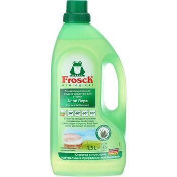 Frosch Концентрированное жидкое средство для стирки АЛОЕ ВЕРА, 1,5 л