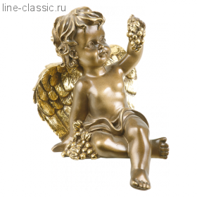 Скульптура Империя Богачо Ангел с виноградом (22166 Б)