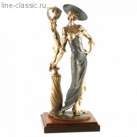 Скульптура Империя Богачо Девушка с колонной (22040 Б)