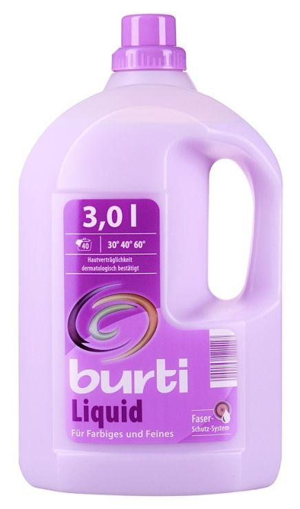 Burti Liquid синтетическое жидкое средство для цветного и тонкого белья 3 л