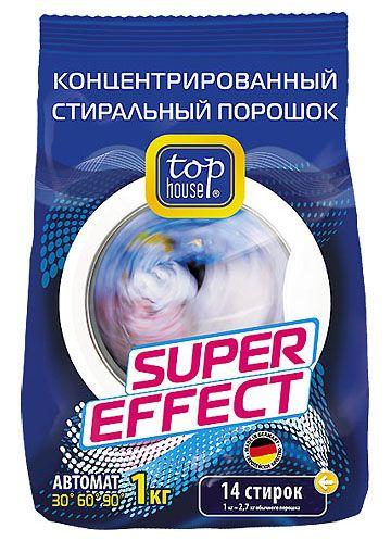TOP HOUSE Концентрированный суперэффективный стиральный порошок АВТОМАТ, 1 кг