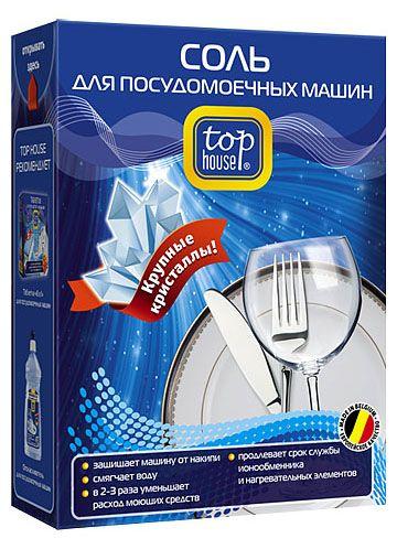 TOP HOUSE Соль для посудомоечных машин, крупнокристаллическая, 1,5 кг