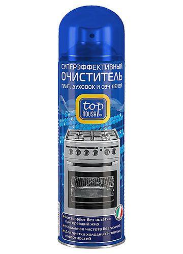 TOP HOUSE Суперэффективный очиститель плит, духовок и СВЧ печей, 300 мл (аэрозоль)