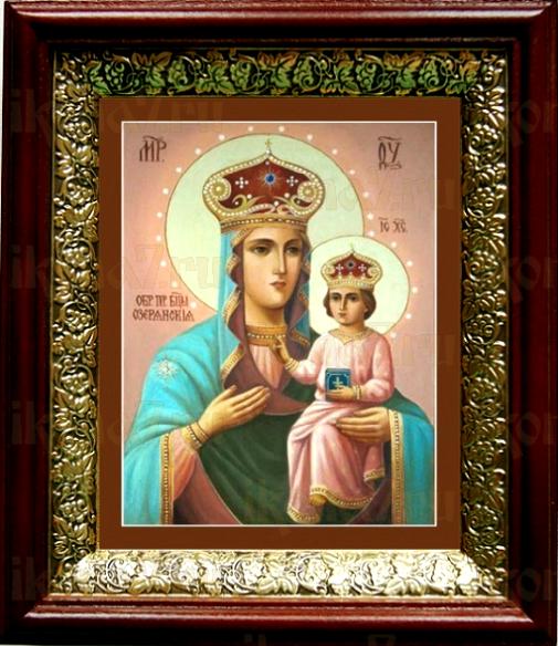 Озерянская икона БМ (19х22), темный киот