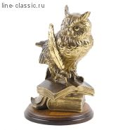 Скульптура Империя Богачо Ученый Филин 20 см (22378 Б)