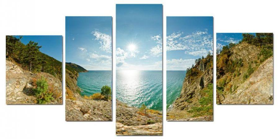Модульная картина Долина у моря
