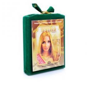 Аюрведическая лечебная краска для волос Золотой Блонд Ааша Хербалс (AASHA Herbals), 100г
