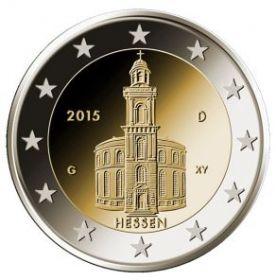 Гессен (Церковь Святого Павла во Франкфурт-на-Майне) 2 евро Германия 2015 монетный двор J