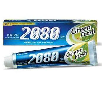 Корейская зубная паста Зеленый чай Green Fresh Dental Clinic 2080 KeraSys 120гр