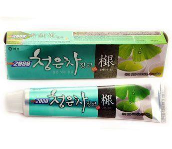 Корейская зубная паста Восточный чай с гинкго KeraSys 120гр