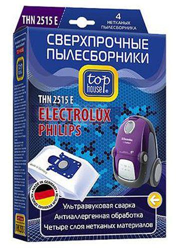 TOP HOUSE THN 2515 E сверхпрочные нетканые пылесборники, 4 шт.