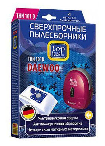TOP HOUSE THN 101 D сверхпрочные нетканые пылесборники, 4 шт.