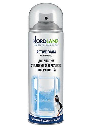 NORDLAND Пена для чистки стеклянных и зеркальных поверхностей, 500 мл