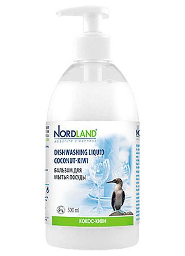 Nordland Бальзам для мытья посуды Кокос-киви 500 мл
