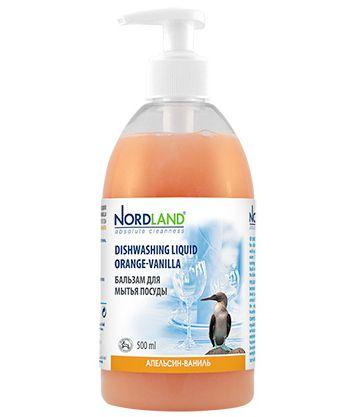 """NORDLAND Бальзам для мытья посуды """"Апельсин-ваниль"""", 500 мл"""
