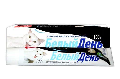 Белый Кот Зубная паста Белый день