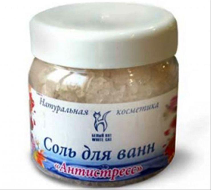 Белый Кот Соль для ванн Антистресс 450 г