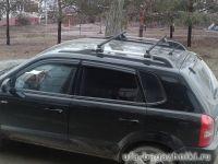 Багажник на крышу - стальные прямоугольные дуги на рейлинги Hyundai Tucson, Евродеталь