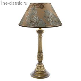 "Настольная лампа Империя Богачо (СБ-9) ""Колонна испанская цв."" (32022 Б) Абажур ""Валери"""