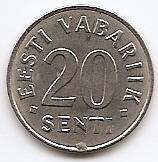 20 сентов Эстония 2006