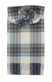 шарф 100% шерсть ягнёнка , расцветка королевский клан Стюартов , Небесный вариант ,плотность 6