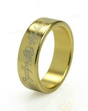 Магнитное кольцо золото с надписями
