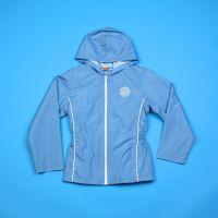 Голубая куртка-ветровка для девочки