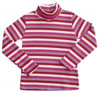 Водолазка для девочки в цветную полоску АВ Стайл 0002