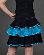 Юбка с голубым гипюром, костюм для латины (юниоры 1)