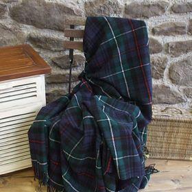 Шотландский плед, 100 % стопроцентная шерсть ягнёнка, расцветка клан МакКензи Mackenzie, плотность 8