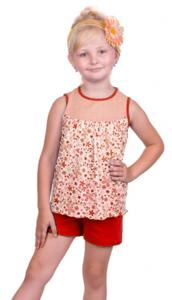 топ и шорты для девочки 2 лет