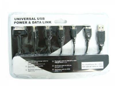 Переходник USB Орбита TD-1101 (7 разъемов, iPod,iPhone3G,HTC,PSP,NDSi)*