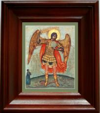 Михаил архангел, попирающий дьявола (21х24), простой киот