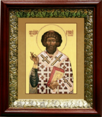 Климент, папа Римский (19х22), темный киот