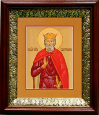Святослав (19х22), темный киот
