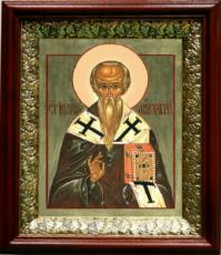 Иоанн Милостивый (19х22), темный киот