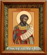 Роман Сладкопевец (19х22), светлый киот