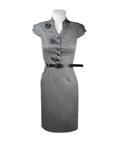Классическое платье из стрейчевого габардина