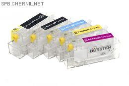Перезаправляемые картриджи Bursten Nano-2 для Canon iP4840, iP4940, iX6540, MG5140, MG5240, MG5340, MX714, MX884, MX894  (PGI-425, CLI-426) x5 с авто-чипом