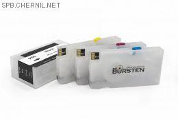 Перезаправляемые картриджи Bursten Nano для HP OfficeJet Pro 8100, 8600 с картриджами HP 950, 951 x 4 шт. С чипами