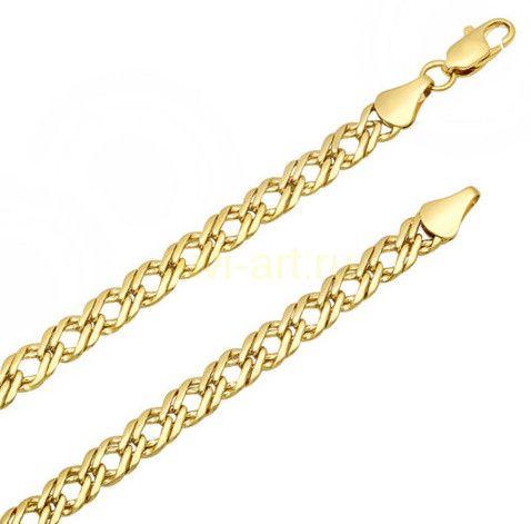 Стильная позолоченная цепочка с венецианским плетением, 5 мм
