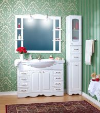 Комплект мебели для ванной комнаты Бриклаер Анна 120