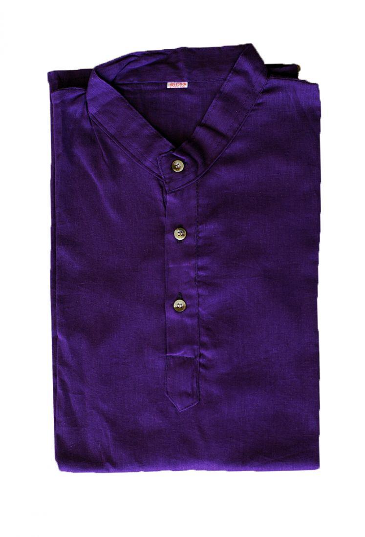 Фиолетовая мужская рубашка из хлопка (СПб)