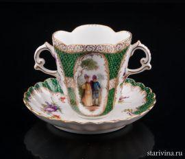 Чашка для горячего шоколада, Дрезден, Германия, кон. 19, нач. 20 в