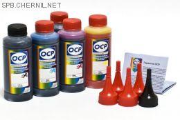 Чернила OCP для принтера и МФУ Canon MG5340, iP4940, iP3600 (BK35, BK124, C154, M144, Y144) Safe Set, комплект 100 гр. x 5