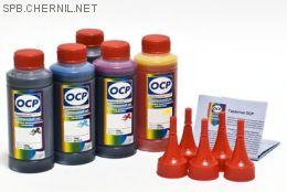 Чернила OCP для принтера и МФУ Canon MG5340, iP4940, iP3600 (BKP44, BK124, C154, M144, Y144), картриджи PGI-425, CLI-426, PGI-520, CLI-521 комплект 100 гр. x 5