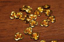Розочки золотые металлические