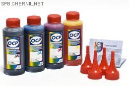 Чернила OCP для принтера и МФУ Canon MG2240, MG3240, MG3540, MG4240 (BKP44, C710, M710, Y710), картриджи PG-440, CL-441 комплект 100 гр. x 4